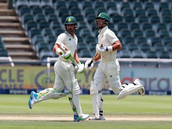 Openers Dean Elgar (left) and Aiden Markram took South Africa home (Photo: CSA twitter)