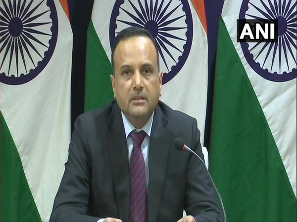 MEA spokesperson Anurag Srivastava speaking during virtual press briefing on Thursday. (Photo/ANI)