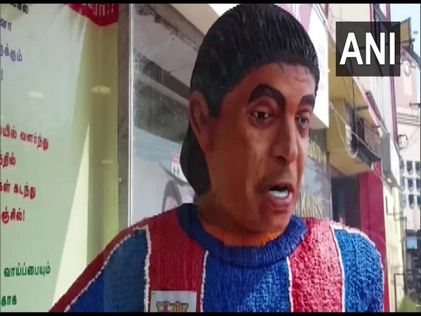 Cake statue of footballer Diego Maradona (Photo/ANI)