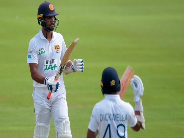 Dinesh Chandimal and Niroshan Dickwella in action against South Africa (Photo/ ICC Twitter)