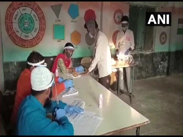 Visual from the polling centre at Kudi village in Kalaburagi district.