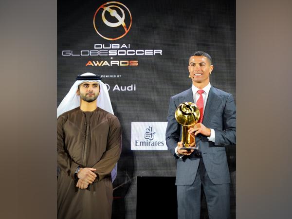 Cristiano Ronaldo (Photo/ Globe Soccer Awards Twitter)