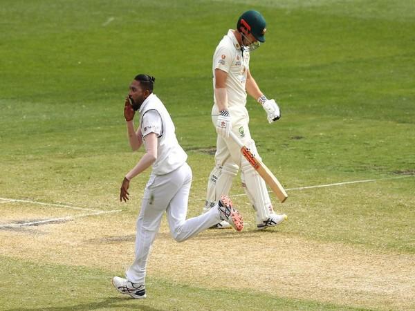 Mohammed Siraj celebrates Travis Head's wicket (Photo: ICC twitter)