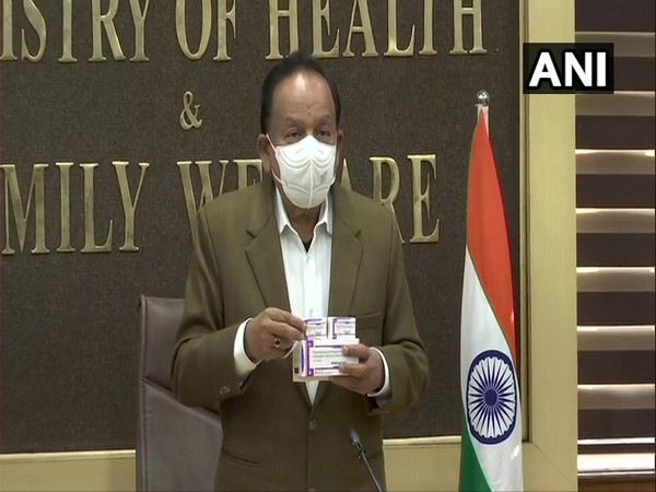 Union Health Minister Dr Harsh Vardhan inaugurates India's first pneumococcal conjugate vaccine (Photo/ANI)