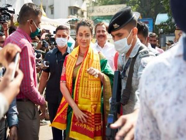 Actor Kangana Ranaut during temple visit in Mumbai (Image Source: Twitter)
