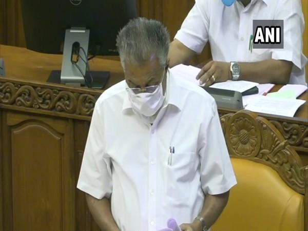 Kerala Chief Minister Pinarayi Vijayan in the Assembly. (Photo/ANI)