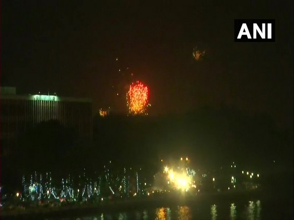 Visuals of firework In Goa