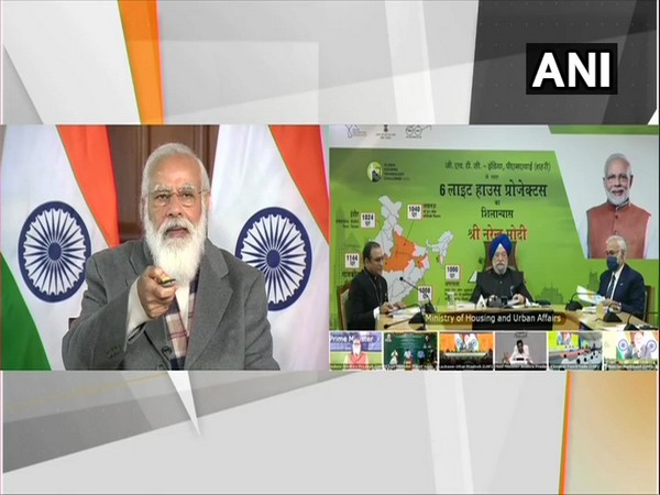Prime Minister Narendra Modi virtually laid the foundation stone for Light House Projects. (Photo/ANI)