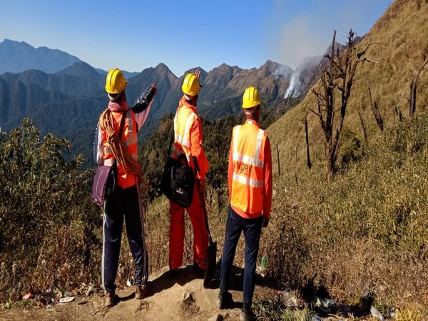 NDRF personnel deployed to fight wildfire at Dzuko valley