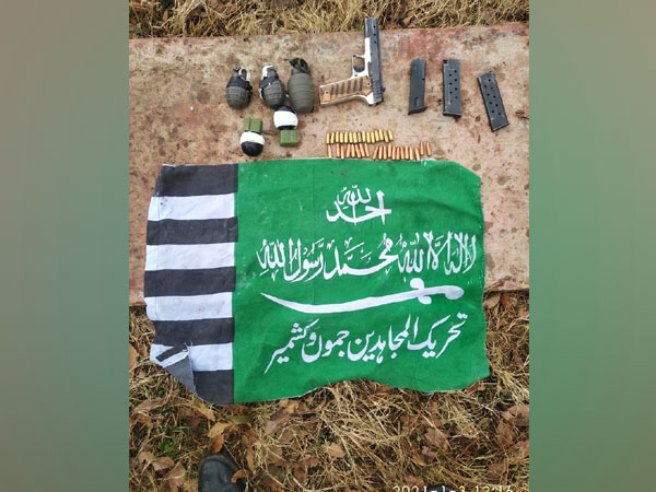 A consignment of arms, ammunition and grenades recovered from Dabbi village