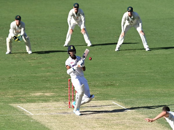 Washington Sundar in action against Australia. (Photo/ BCCI Twitter)