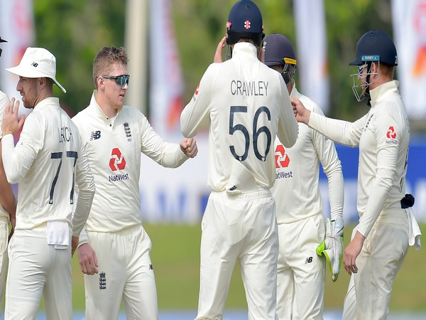 England players during Sri Lanka's second innings. (Photo/ ICC Twitter)