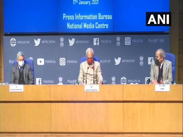 Visual from the Health Ministry's press briefing (Photo/ANI)