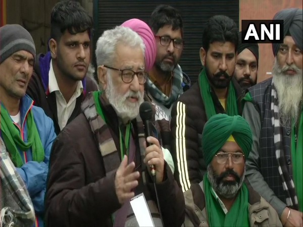 Krantikari Kisan Union chief Darshan Pal at a press conference at the Singhu border. (Photo/ANI)