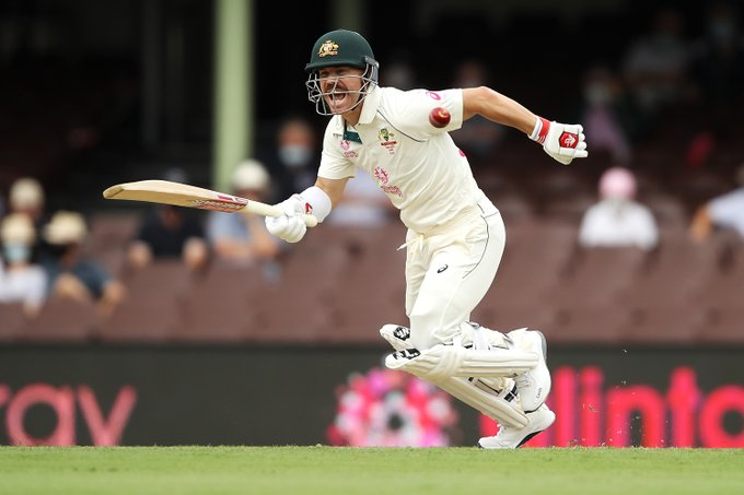 Australia batsman David Warner (Photo/ ICC Twitter)