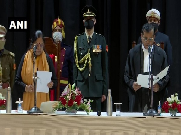The oath ceremony of Uttarakhand High Court Chief Justice. (Photo/ANI)