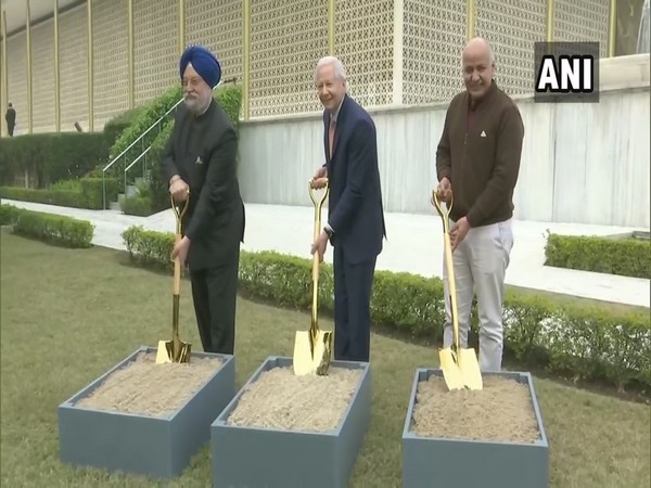 US Ambassador Kenneth Juster, Union Minister Hardeep Singh Puri and Deputy Chief Minister Manish Sisodia took part in the groundbreaking event for a new Chancery building