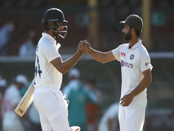 India skipper Ajinkya Rahane with Hanuma Vihari (Photo/ BCCI Twitter)
