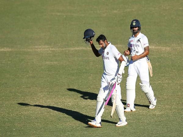 R Ashwin and Hanuma Vihari walk back at the end of the game at the SCG (Photo/ R Ashwin Twitter)