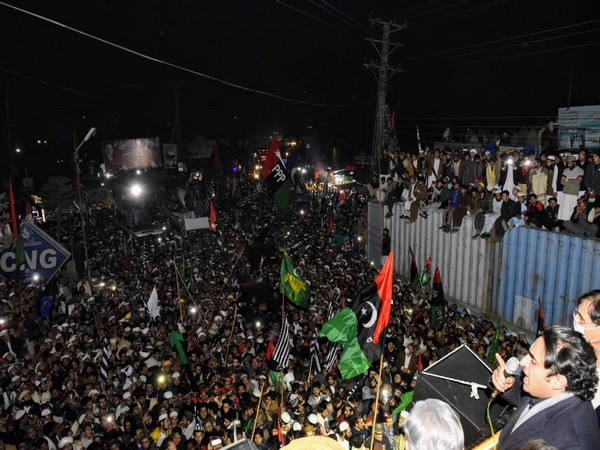 Pakistan Peoples Party (PPP) Chairperson Bilawal Bhutto-Zardari at Malakand rally (Twitter/PPP)