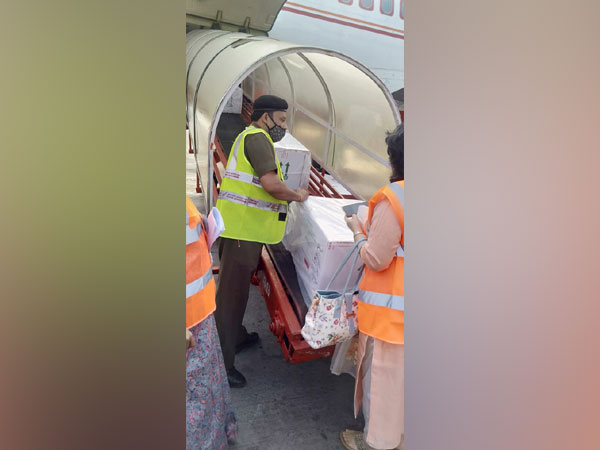 Air India transported the first consignment on COVISHILD to Ahmedabad on Tuesday (Photo/ANI)
