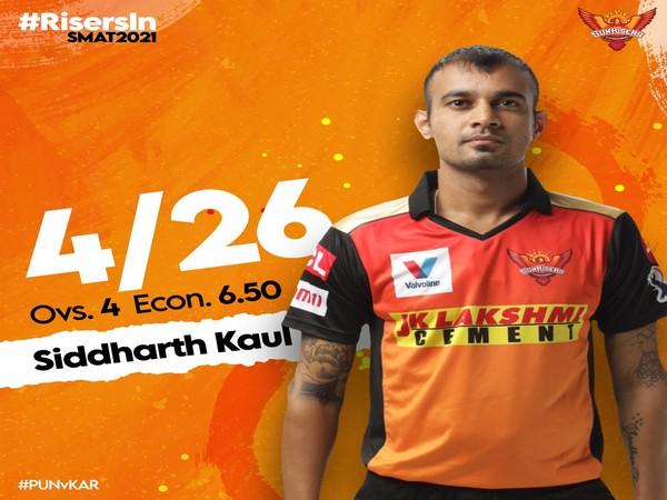 Siddharth Kaul (Photo/ SunRisers Hyderabad Twitter)