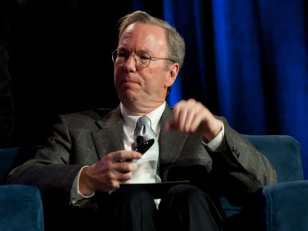 Former chief executive officer (CEO) of American tech giant Google, Eric Schmidt