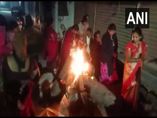 People in Odisha's Gajapati district celebrating Bhogi (Photo/ANI)
