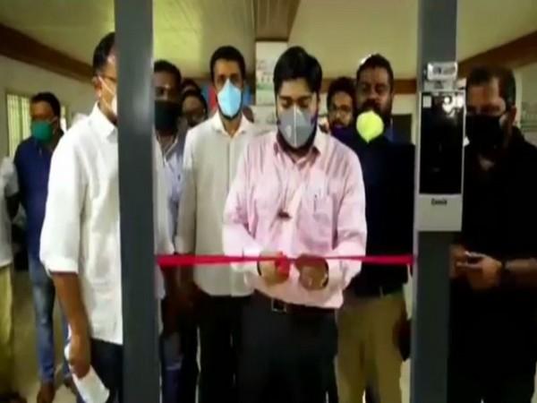 The Walk Through Temperature Scanner being inaugurated in Ernakulam, Kerala. Photo/ANI