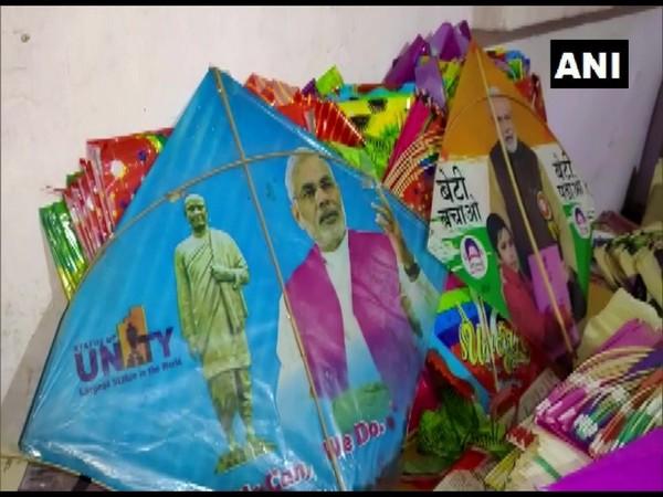 PM Modi printed kites