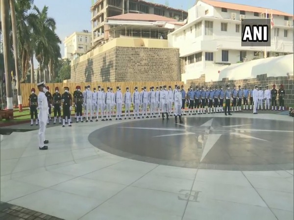 Visuals from Veterans Day wreath-laying ceremony held at Naval Dockyard, Mumbai (Photo/ANI)