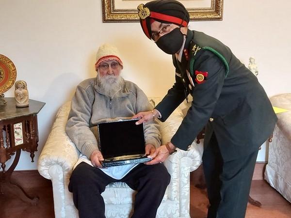 Col Prithipal Singh (Retd) presented Silver Salver (Photo/ANI)
