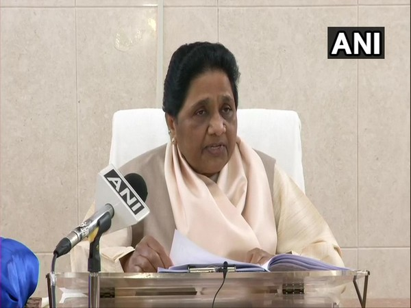 BSP supremo Mayawati speaking to ANI on Friday. Photo/ANI