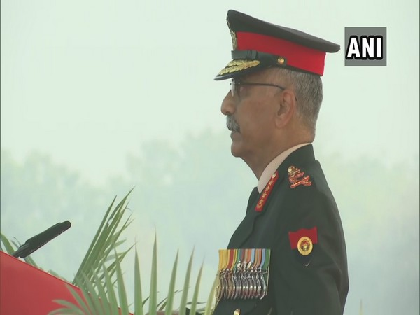 Army chief General Manoj Mukund Naravane speaking on Army Day. (Photo/ANI)