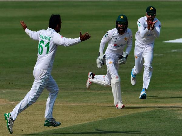 Nauman Ali picked his maiden fifer on Friday. (Photo/ ICC Twitter)