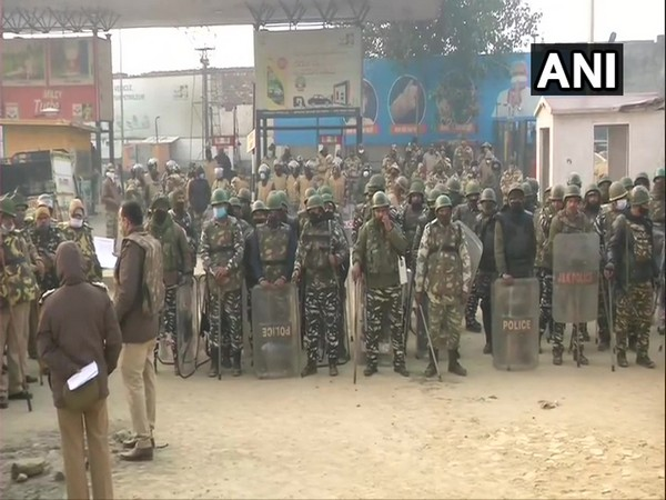 Security increased in the wake of ongoing farmers' protest. [Photo/ANI]