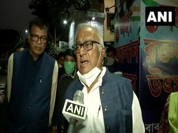 TMC MP Sougata Roy speaking to ANI