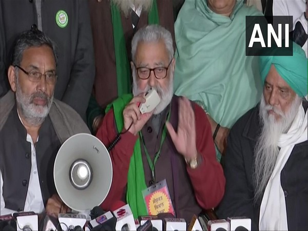 Krantikari Kisan Union leader Darshal Pal speaking to media on Friday. Photo/ANI