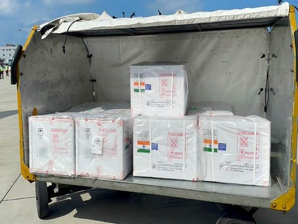 A consignment of Indian COVID-19 vaccines at Maldives (Credit: Dr S Jaishankar/Twitter)