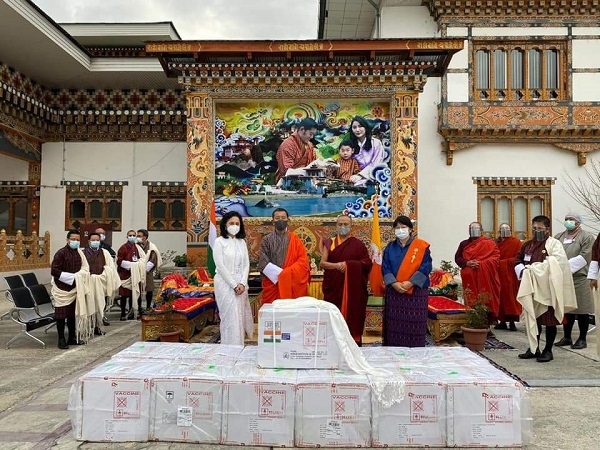 First consignment of COVID-19 vaccine from India arrives in Paro valley, Bhutan (Photo Credit: Twitter/ PM Bhutan)