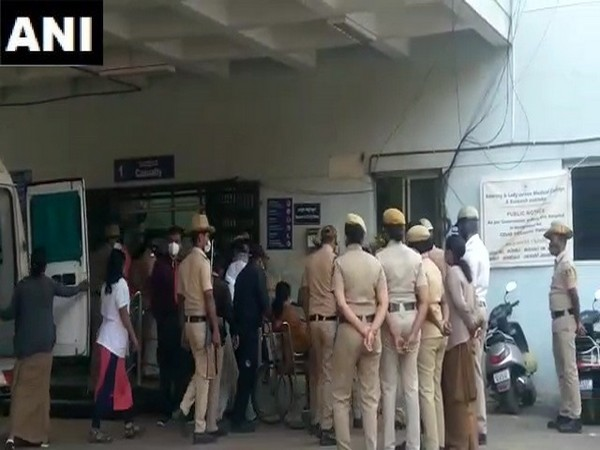 Visuals from outside the hospital. (Photo/ANI)