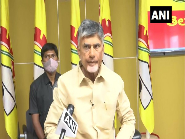 TDP chief N Chandrababu Naidu speaking to ANI in Amaravati on Thursday [Photo/ANI]