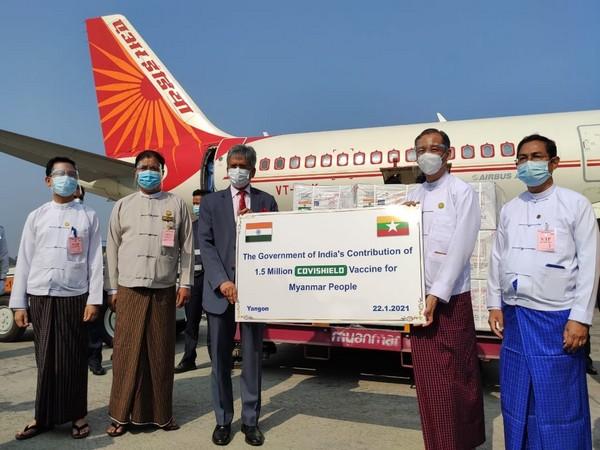 India's consignment of Covishield vaccines reached Myanmar on January 22 (Photo credit: Twitter/S Jaishankar)
