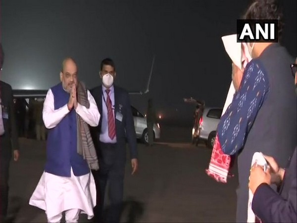 Union Home Minister Amit Shah arrived in Guwahati (Photo/ANI)