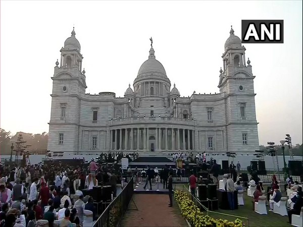 Visuals from Parakram Diwas celebrations at Victoria Memorial (Photo/ANI)
