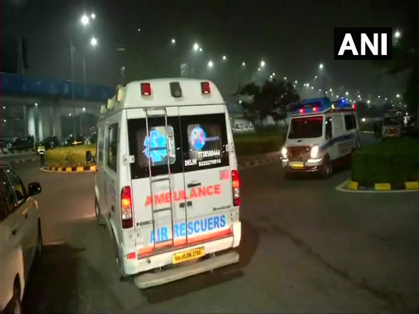 Visuals out side the Delhi airport. (Photo/ANI)