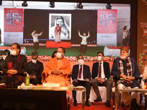 UP CM Yogi Adityanath at 'UP Diwas' ceremony. (Photo/twitterCMO)