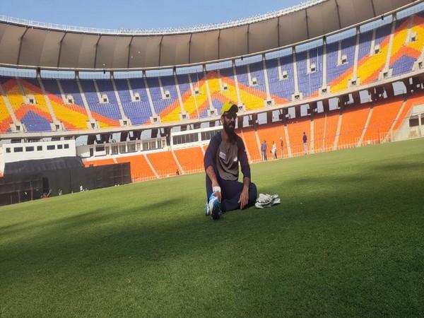 Dinesh Karthik at the Motera Stadium (Photo/ Dinesh Karthik Twitter)