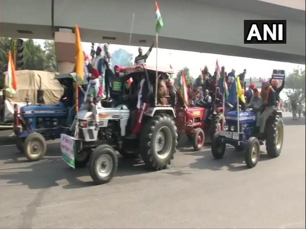 Farmers' tractor rally (Photo/ANI)