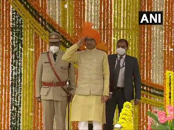 Madhya Pradesh CM Shivraj Singh Chouhan at SAF ground in Rewa